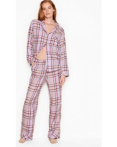 Пижама в клетку - фиолетовая Victoria's Secret