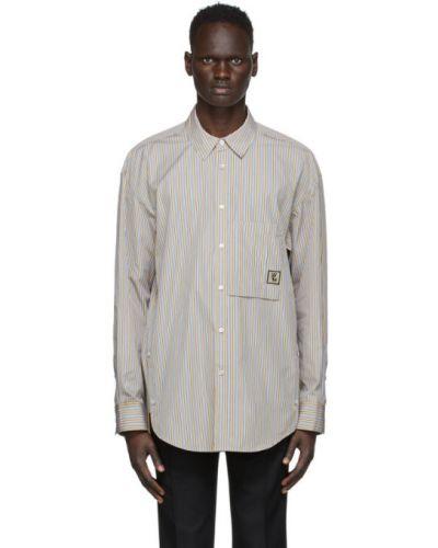 Белая рубашка с воротником с вышивкой с карманами Wooyoungmi