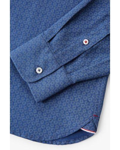 Синяя рубашка в клетку Mango Man