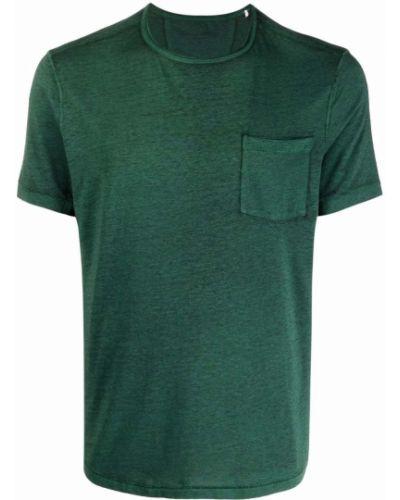 Zielony t-shirt krótki rękaw bawełniany John Varvatos