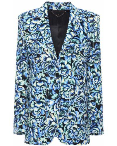 Однобортный синий пиджак вельветовый Paco Rabanne