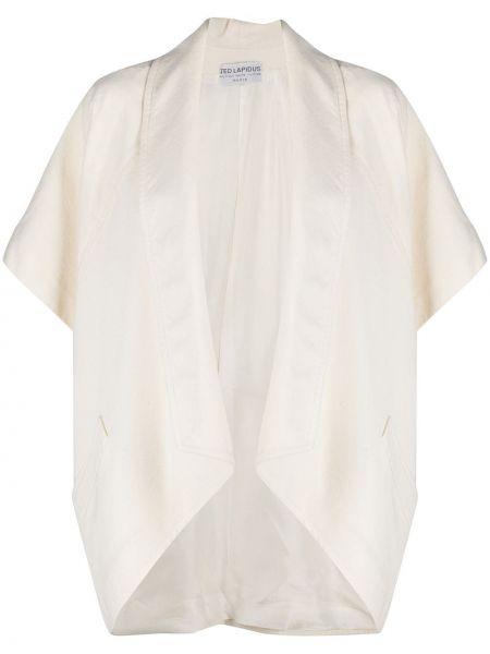 Шерстяной бежевый пиджак с короткими рукавами A.n.g.e.l.o. Vintage Cult