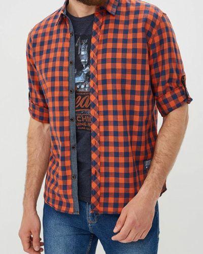 Оранжевая рубашка с длинным рукавом Tom Tailor