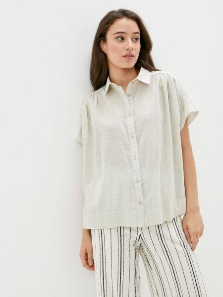 Рубашка с коротким рукавом бежевый Gabriela