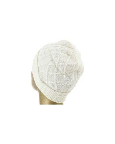 Белая шапка кашемировая Fedeli
