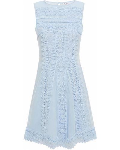 Кружевное платье мини - синее Charo Ruiz Ibiza
