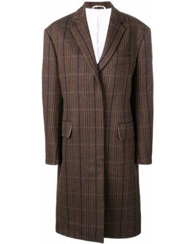 Шерстяное длинное пальто с капюшоном на пуговицах Calvin Klein 205w39nyc