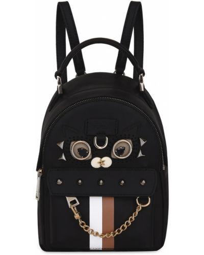 Кожаный рюкзак с заклепками нейлоновый Furla