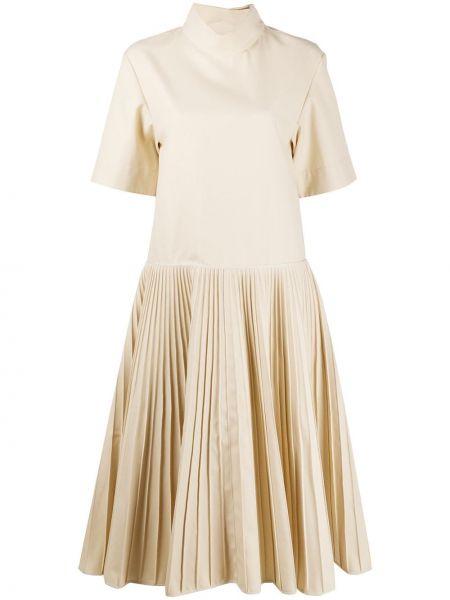 Платье мини миди плиссированное Jil Sander