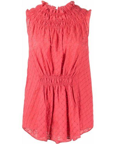Красная блузка с вырезом Cinq À Sept