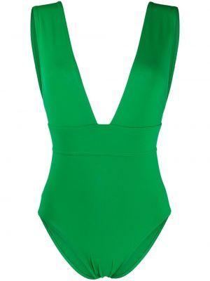 Зеленый купальник с вырезом эластичный Eres