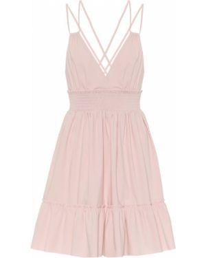 Летнее платье розовое мини Redvalentino