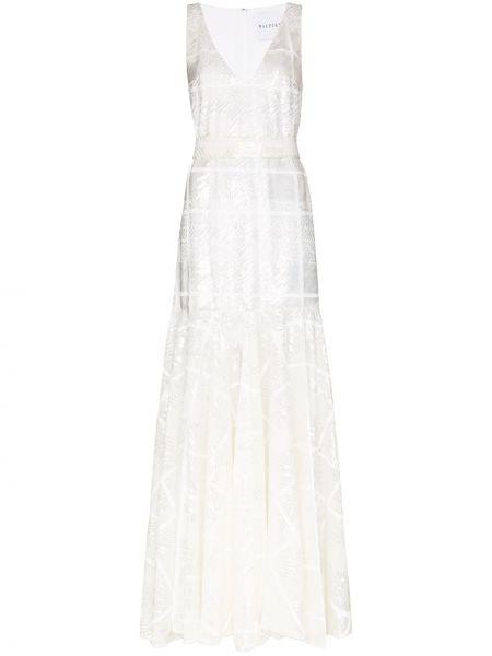 Вечернее платье с пайетками макси Halpern
