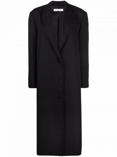 Черное пальто из вискозы Philosophy Di Lorenzo Serafini