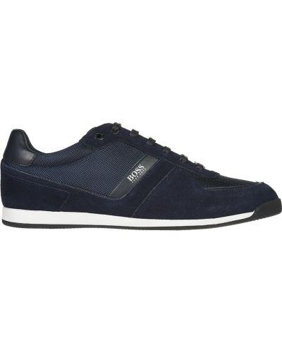 Кроссовки замшевые синий Hugo Boss