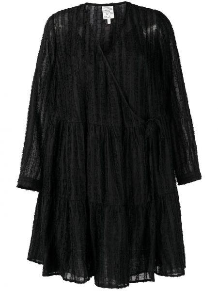 Расклешенное с рукавами черное платье макси Baum Und Pferdgarten