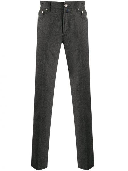 Классические прямые брюки с поясом на пуговицах новогодние Borrelli