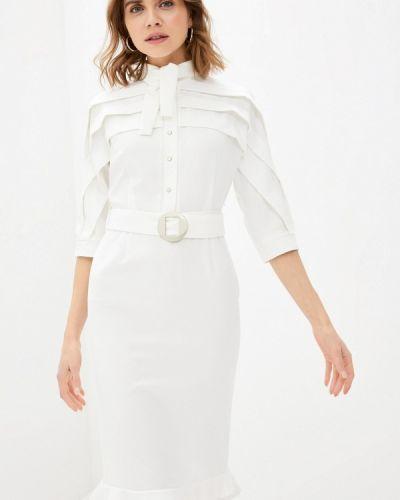 Прямое белое платье Adzhedo