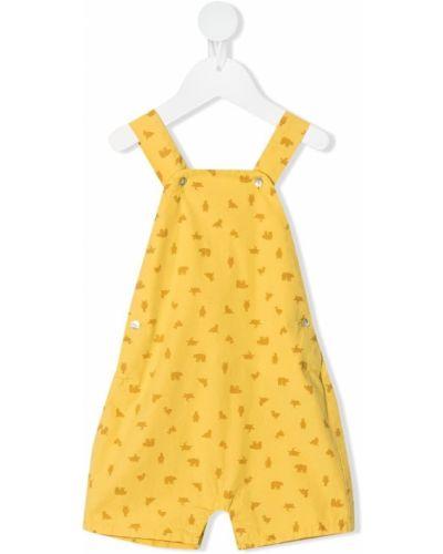 Kombinezon z printem - żółty Knot