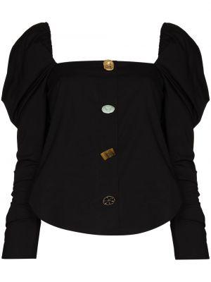 Czarna bluzka bawełniana Rejina Pyo