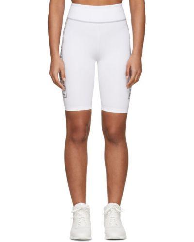 Нейлоновые белые шорты с карманами Fendi