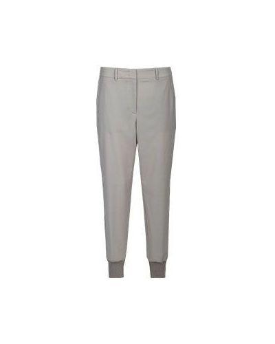 Бежевые брюки шерстяные Peserico