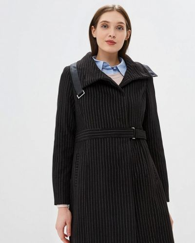 Черное пальто с капюшоном Camomilla Italia