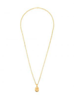 Złoty naszyjnik pozłacany szafir Hermina Athens
