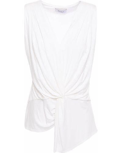 Biała bluzka asymetryczna z wiskozy Bailey 44