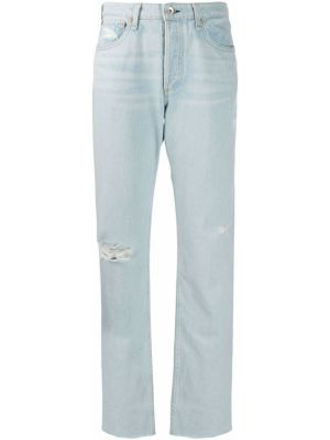 Прямые джинсы с эффектом потертости на пуговицах Rag & Bone