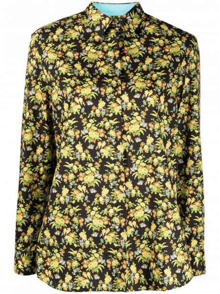 Желтая шелковая классическая рубашка с воротником Paul Smith