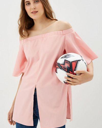 Розовая блузка с рюшами Vittoria Vicci
