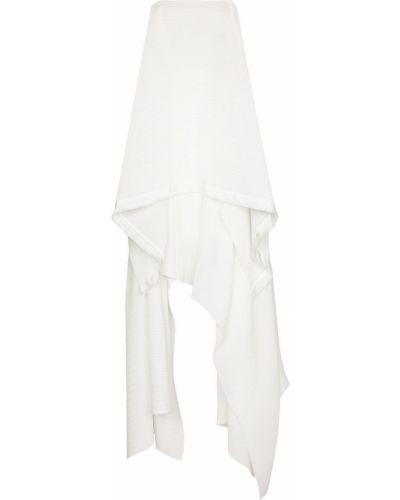 Плиссированное белое платье Solace London
