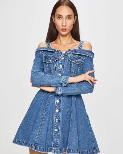 Расклешенное облегающее платье на пуговицах с карманами Miss Sixty