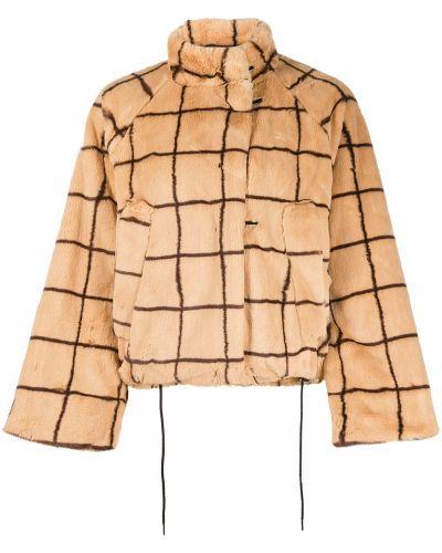 Прямая коричневая длинная куртка Baum Und Pferdgarten
