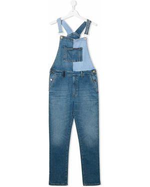 Комбинезон синий с карманами Tommy Hilfiger Junior