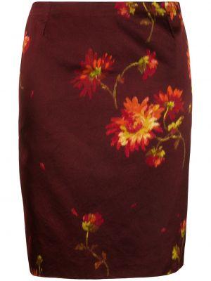 Красная прямая юбка карандаш с поясом Dolce & Gabbana Pre-owned