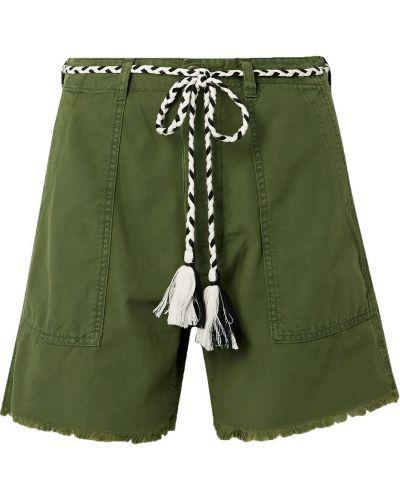 Армейские хлопковые шорты с карманами The Great.
