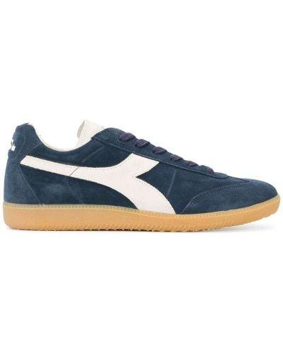 Кроссовки замшевые на шнуровке Diadora
