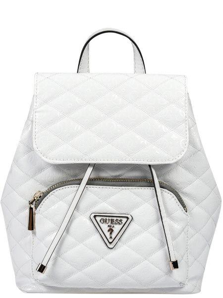 Кожаный рюкзак - белый Guess