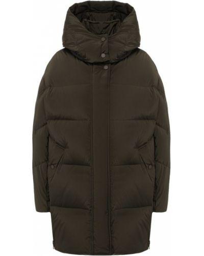 Куртка с капюшоном нейлоновая зеленая Woolrich