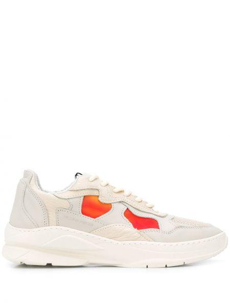Beżowe sneakersy sznurowane koronkowe Filling Pieces