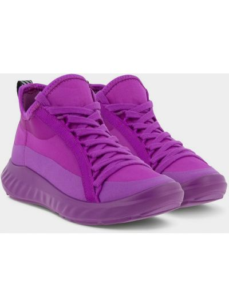 Фиолетовые текстильные кроссовки на шнурках Ecco