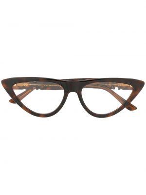 Коричневые очки кошачий глаз Jimmy Choo Eyewear