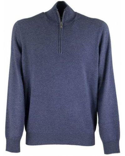 Kaszmir sweter z kołnierzem z mankietami Brunello Cucinelli