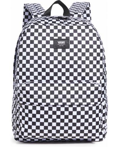 Текстильный черный школьный рюкзак Vans