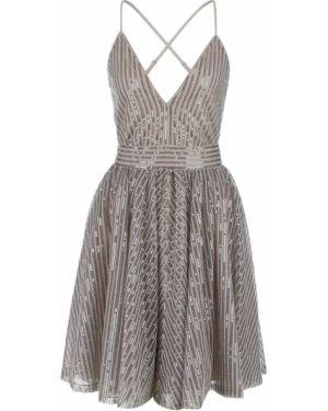 Вечернее платье серое на бретелях Miss Sixty