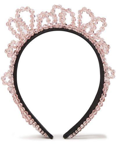 Ободок атласный - розовый Simone Rocha