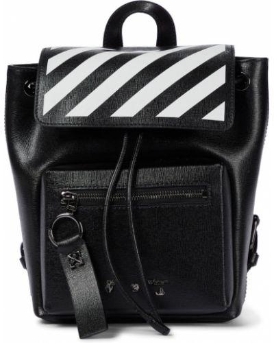 Кожаный рюкзак - белый Off-white