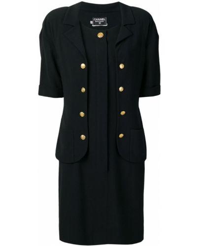 Платье мини винтажная на пуговицах Chanel Vintage